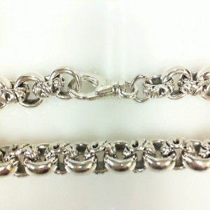 Sterling Silver Filigree Bracelet Length: 8.75 Diameter: 10mm