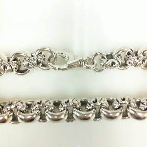 Sterling Silver Filigree Bracelet Length: 8.75 Diameter: 10mm