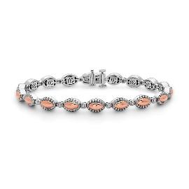 Firefly White/Rose Sterling Silver & 18Kr Bracelet
