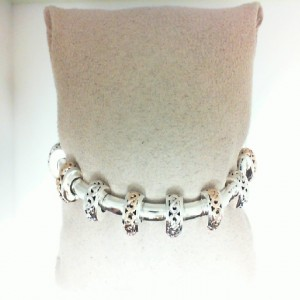 White/Rose Sterling Silver & 14Kr Bracelet Name: IVY STATION TUBE BRACELET Length: 7 14KTW TONGUE CLASP