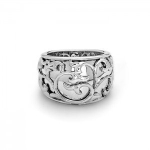 Sterling Silver Filigree Ring Size 6.5 Diameter: 15-9mm Name: Ivy Lace