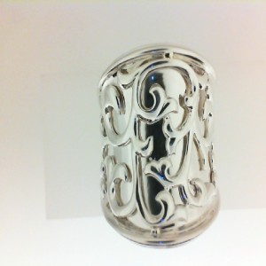 Sterling Silver Ring Size 6.5 Diameter: 25Mm Name: Ivy Lace Large Saddle Ring