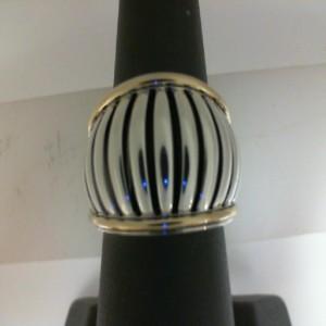 Sterling Silver & 18Ktyg Birdcage Ring