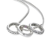 Sterling Silver Pendant Charm Type: 3 Piece Pendant Set- 2 Ivy Engraved 1 Smooth- I Love You 365 Days A Year with 20 Round Box