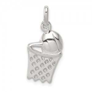 Sterling Silver Charm Basketball Hoop
