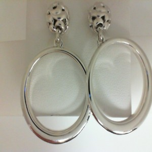 Sterling Silver Medium Hoop Earrings Name: IVY BALL HOOP