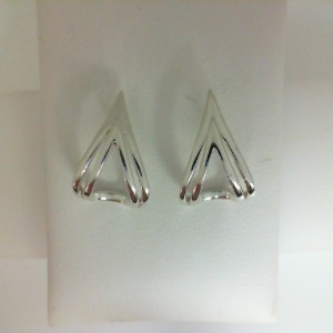 Sterling Silver Earrings Double V Earrings