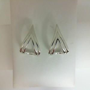 Sterling Silver Earrings Double V Earrings