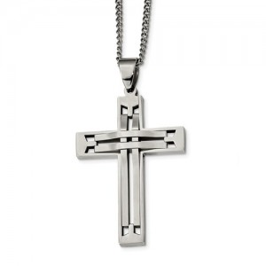 Stainless Steel Cross W/ 24 Inch Chain