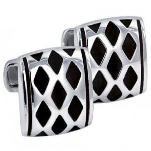 Sterling Silver Engraved Oxidized Cufflinks Giftware
