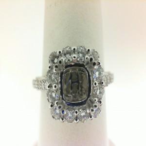 White 14 Karat Ring With 34=0.73Tw Round Diamonds