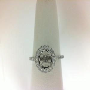 White 18 Karat Semi Ring With 40=0.35Tw Round Diamonds