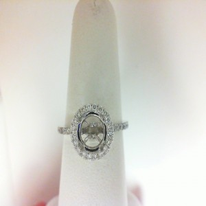 White 18 Karat Semi Ring With 40=0.41Tw Round Diamonds