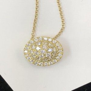 Yellow 18 Karat Pendant With 40=0.47Tw Round G Si1-2 Diamonds Metal: 18 Karat Color:Yellow Length: 16