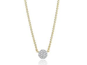 Phillips House: White 14 Karat Necklace With 19=0.10Tw Round Diamonds Name: Micro Infinity Necklace Chain: Bead Metal: 14 Karat Color: White