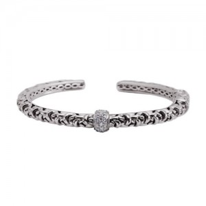 Sterling Silver Bracelet With 25=0.40Tw Round Diamonds