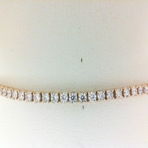 Yellow 14 Karat Bracelet With 69=3.00Tw Round Diamonds