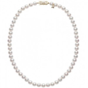 18 Kt Y/G 16 Inch 5.5 X 6 Mm A1 Pearl Necklace