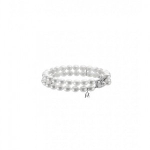 White18 Karat Double Strand Bracelet With 46= A Quality 6.50X7.00Mm Round Pearls Length: 7