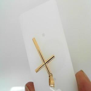 14 Karat Yellow Gold Religious Charm Pendant