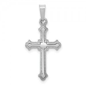 White 14 Karat Pendant Charm Type: Cross