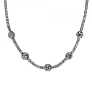 White Sterling Silver Chain 18 Inch