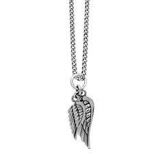 King Baby: Sterling Silver Chain Length: 24 Name: Dbl Wing Pendant