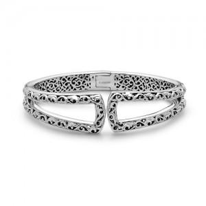 Sterling Silver Bangle Bracelet Name: Ivy U
