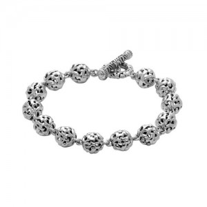 Sterling Silver Filigree Bracelet Length: 7.25 Diameter: 9mm