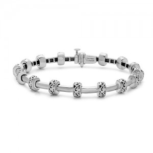 Sterling Silver Bracelet Name: Ivy Tube Length: 7.5 Inches