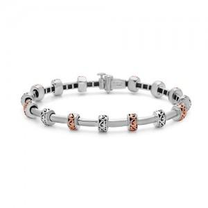 Sterling Silver & 18KtRose Bracelet
