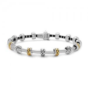 Sterling Silver & 18KtYellow Bracelet