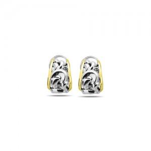Sterling Silver & 18Ky Earrings Name: Ivy Silver Earrings