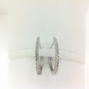 White 14 Karat Earrings With 26=0.10Tw Round Single Cut Diamonds