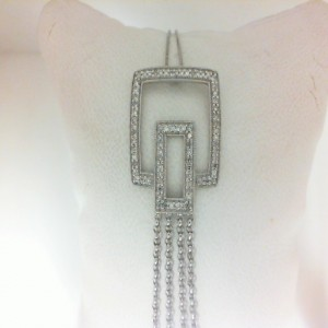 White 14 Karat Pendant With 82=0.40Tw Round Single Cut Diamonds