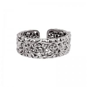 Sterling Silver Cuff Bracelet Ivy 13mm