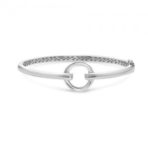 Sterling Silver Bangle Circular Spear Cuff Bangle