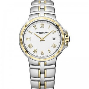 Stainless Steel And Yellow PVD Plating Quartz Watch