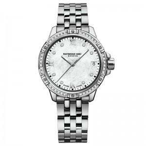 Stainless Steel Quartz Watch With 44=0.19Tw Round E/F Si1-2 Diamonds