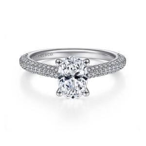 White 14 Karat semi Brexley Ring With 0.54Tw Round G/H Si1-2 Diamonds