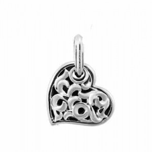 Sterling Silver Pendant Charm Type: Large Love Hearts 19mm