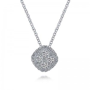 White 14 Karat Pendant With 0.49Tw Round Si1-2 Diamonds