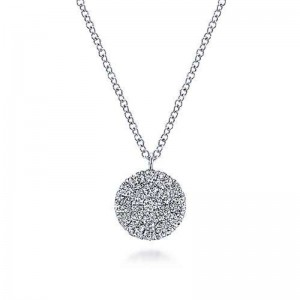 White 14 Karat Pendant With 0.48Tw Round Si1-2 Diamonds