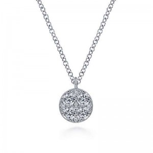 White 14 Karat Necklace With 0.36Tw Round Diamonds