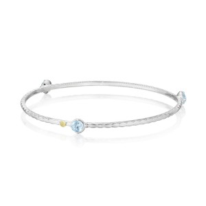 Color Pop Trio Bangle featuring Sky Blue Topaz