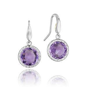 Simply Gem Drop Earrings featuring Amethyst