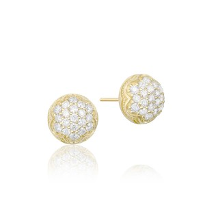 Dew Drop Stud featuring Pavé Diamonds
