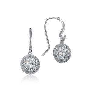Dew Drop Earrings featuring Pavé Diamonds