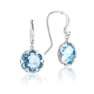 Crescent Drop Earrings featuring Sky Blue Topaz
