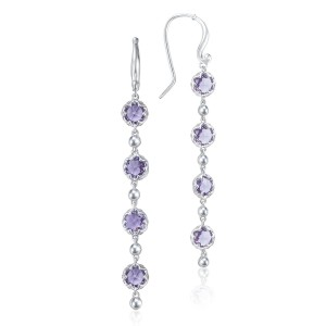 Rain Drop Earrings featuring Amethyst